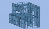 Model ocelového skeletu